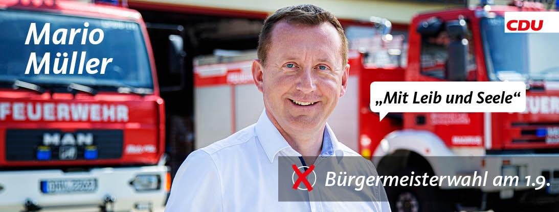 Foto von Mario Müller | Bürgermeisterkandidat 2019 des Mühlenbecker Landes